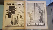 RADIOCORRIERE EIAR 1934 N° 35 PUBBLICITA' RAYON, PONCHIELLI, BALILLA SPIAGGE