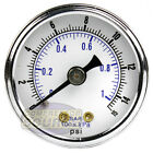 1/8' NPT Air Pressure Gauge 0-15 PSI Back Mount 1.5' Face Diameter