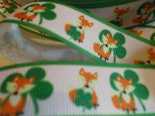 1m G/grano cinta Fox suerte Trébol Jardín Vida Silvestre oficio Pastel St Patricks Día