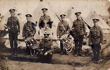 WW1 soldier group Regimental Band Royal Fusiliers Drums Bugles