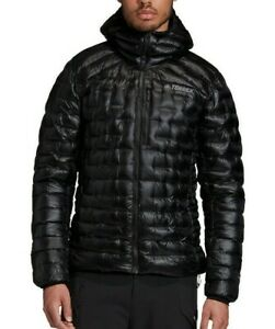 ADIDAS TERREX CLIMAHEAT DOWN Jacket Puffer XL Black Hooded Retail $349 800 Fill