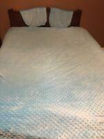 Lot 3 Pc Set Full Size Comforter/2 Shams Bedding Teen Kids Girls Turquoise Soft