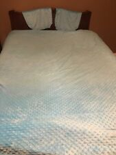 Lot 3 Pc Set Full Size Comforter/2 Shams Bedding Teen Kids Girls Turquoise Soft