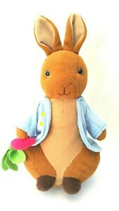 Beatrix Potter Peter Rabbit Soft Plush Toy with Carrot Kids Book Character 31CM