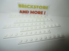 Lego - 6x Plaque plate 1x10 10x1 4477  White/Blanc/Weiss