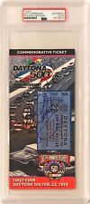1998 Dale Earnhardt Sr. Signed Daytona 500 Commemorative Ticket PSA/DNA Slabbed