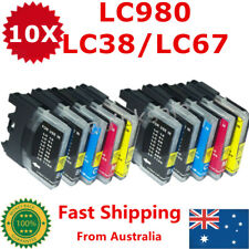 10x Ink Cartridge LC 980 LC38 LC67 LC980 for Brother DCP 385C J615W MFC 790CW