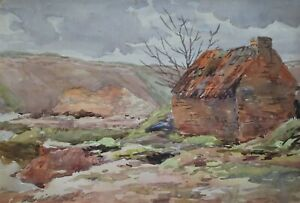 ISOBEL HEATH - Stone cottage in a landscape