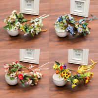 Ladies Garland Sun Flower Crown Floral Hairband Headband Wedding Head Wreath