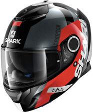 SHARK SPARTAN apics kra rojo / Casco de Moto Negro - Medio