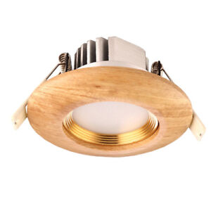 Dimmable/N LED ceiling light 3W/5W indoor lamp FlushMount rubber wood bedroom