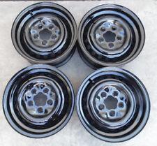 """80 91 Vanagon Gl Westy Syncro T3 OEM 14"""" x 5.5"""" Steel Wheel Rim BLACK SET OF 4"""