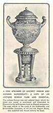 1910 Fine Antique Roman Vase And Pedestal Mentioned By Piranesi