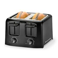 4-Slice Cool Touch Toaster Black