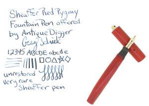 RARE 1920S SHEAFFER CHERRY RED PYGMY RINGTOP FOUNTAIN PEN NO RESERVE