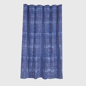 """Threshold Blue Xavier Navy 100% Cotton Tie Die Printed Shower Curtain 72"""" x 72"""""""