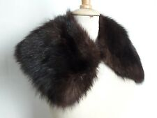 COL N08 EN FOURRURE RENARD MARRON VINTAGE 50 60 BLACK FOX FUR COLLAR