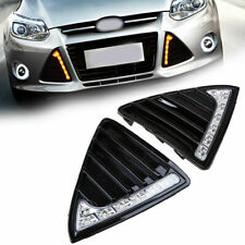 Bumper Lower Grille Cover DRL LED Turn Signals for Ford Focus 2012-2014 Q72G4Y