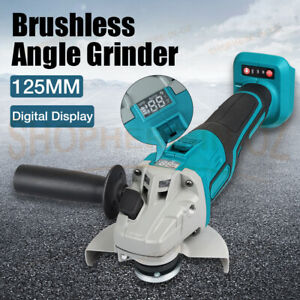Cordless Brushless 125mm Angle Grinder Body Tool for Replace Makita 18V Battery