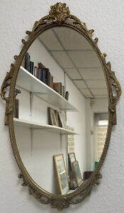 Mid Century Rococo Baroque French Country Gold Gilt Style Mirror