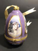 Mr. Christmas Porcelain Musical Egg Christmas Tree Ornament Music Box. NIB