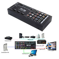 HDMI Audio Extractor 8 Inputs to 1 HDMI Output Coaxial 5.1 Channel Adapter Newly