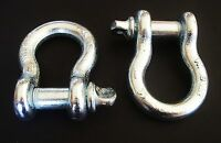 """2 GOLIATH INDUSTRIAL 3/4"""" BOW SHACKLE ANCHOR CLEVIS SCREW PIN 9500LB BS34 G-209"""