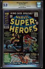 MARVEL SUPER-HEROES #1 CGC 5.0 OWW 1ST MARVEL ONE SHOT SS STAN LEE #1197171002
