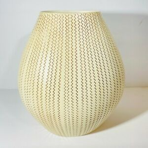 """Crate and Barrel Made In Portugal Zig Zag Patterned Vase 8.5""""T"""