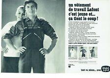 Publicité Advertising 039  1968   vetement travail  Adolphe Laffont  (2 pages)