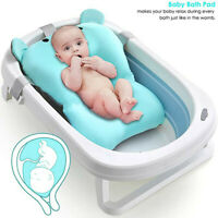 Infant Baby Bath Tub Pad Shower Newborn Kids Bath Seat Non-Slip Bathtub Cushion