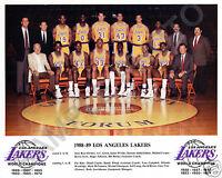 1988-89 LOS ANGELES LAKERS BASKETBALL TEAM 8X10 PHOTO JABBAR MAGIC COOPER SCOTT