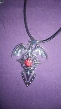 Winged Dagger Pendant Necklace