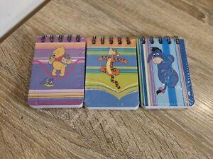Winnie The Pooh Note Books Small X3 Tigger & Eeyore Disney