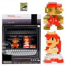 2017 SDCC COMIC CON EXCLUSIVE Super Mario & Princess 8-Bit Mini-Figures 2-Pack!