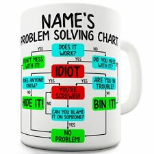 Problem Solving Chart Personalised 11 OZ Funny Novelty Mug Cup