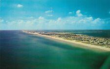Vintage Florida Chrome Postcard Pensacola Beach Gulf of Mexico Aerial View