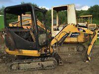 CAT 301.8 Caterpillar Dismantling Mini Digger Excavator !!! Dipper Ram Only !!