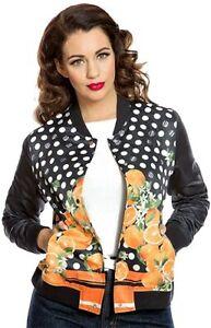 Lindy Bop Berrie orange jacket coat 50s rockabilly pinup retro vintage size 10