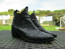 RARE Womens Ladies CLARKS - Elasticated Black Leather Ankle Boots SIZE 6.5 / 40