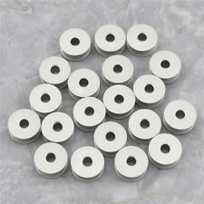 20 Pcs Aluminum Bobbins for Industrial Sewing Machine Accessories Carfts 21mm