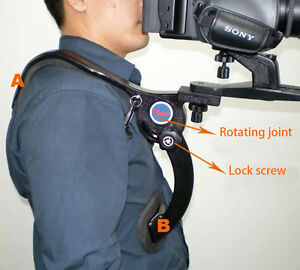 Camera shoulder cradle frame DV camcorder shoulder stabilizer shock absober