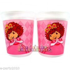 STRAWBERRY SHORTCAKE PRINCESS KEEPSAKE CUPS (2) ~ Birthday Party Supplies Favors