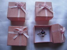 24 Pink Jewellery Gifts Boxes 4cm x 4cm x 3cm