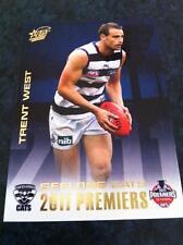 2011 AFL SELECT GEELONG CATS TRENT WEST PC15 PREMIERSHIP PREMIERS CARD