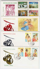 B4642: (12) 1980's Zaire First Day Covers; Cv $60