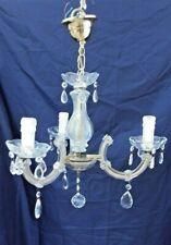 lustre à pampilles en verre, métal  Boule à facettes Bougies Lampe Electricité