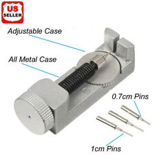 Metal Adjustable Watch Band Strap Bracelet Link Pin Remover Repair Tool Kit Set2