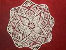 Doily New Crochet Handmade White Grapevines