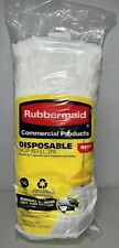Rubbermaid Commercial Products Disposable Mop Refill 2 Pack #16 Small White New!